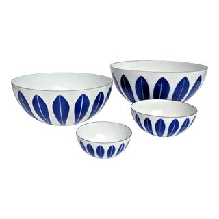 Catherineholm Blue and White Nesting Bowls - Set of 4