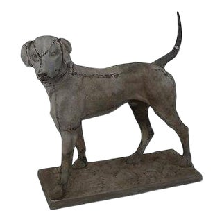 Antique 19th Century Zinc Morley's Dog Statue by J.W. Fiske (A) For Sale