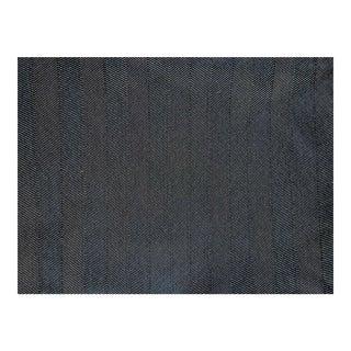 Black & Cream Herringbone Upholstery Fabric : 3+ Yards For Sale