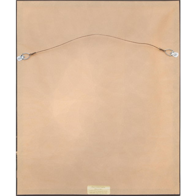 """1923 Birger Sandzen """"Pond With Poplars"""" Original Signed Framed Lithograph For Sale - Image 9 of 10"""