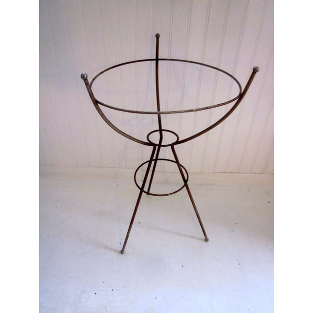 Mid Century Modern Atomic Wire Plant Stand Tripod - Image 3 of 11