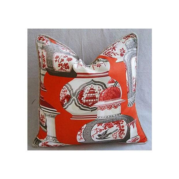 Custom Braemore Chinoiserie Vase Pillows - Pair - Image 3 of 8