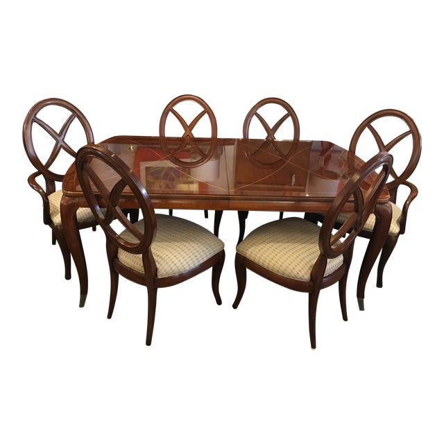 Thomasville Bogart Collection Dining Set - Set of 7 For Sale