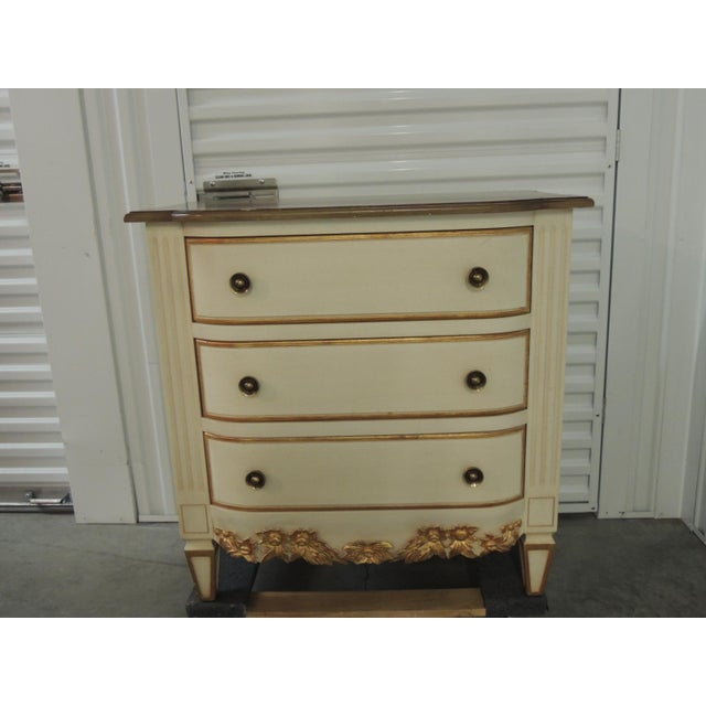 Pair of Natural and Gold Leaf Detail Nightstands/Dressers. For Sale - Image 12 of 12