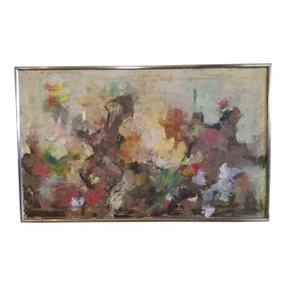 1964 Mid-Century Modern Abstract Painting by BB For Sale