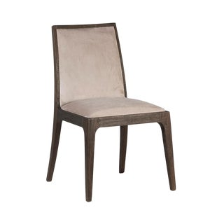 Modern Armless Suede Dining Chair For Sale
