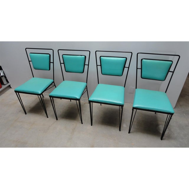 Atomic Age Mid-Century Iron Dining Set - Image 8 of 11