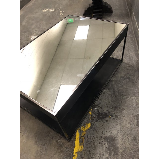 Restoration Hardware Gramercy Narrow Coffee Table With Drawers For Sale In San Francisco - Image 6 of 10