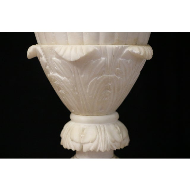 Alabaster Table Lamps - A Pair - Image 7 of 10