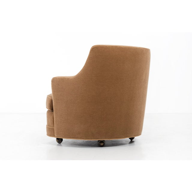 "Dunbar Furniture Edward Wormley for Dunbar ""TV"" Tufted Mohair Lounge Chair For Sale - Image 4 of 8"