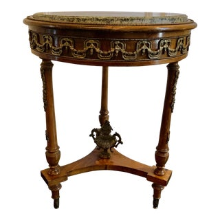Antique Louis XV Style Accent Table For Sale