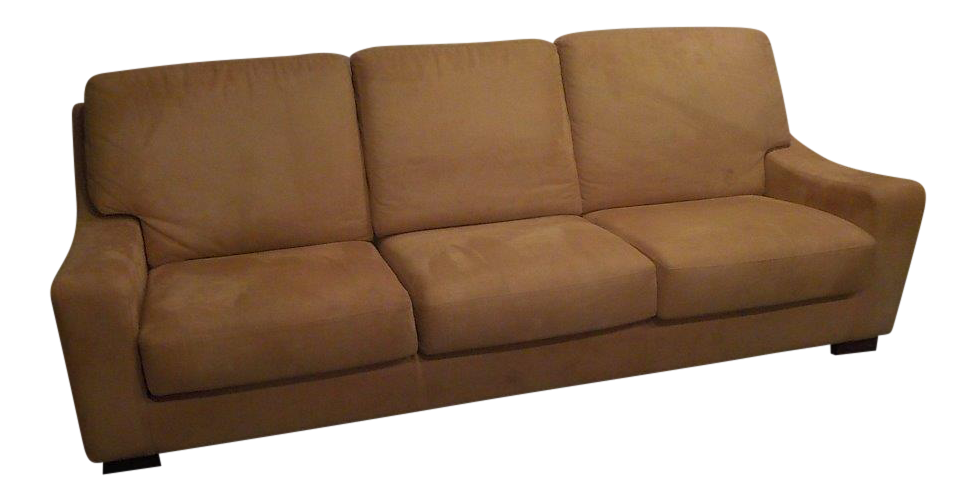 Roche Bobois Caramel Ultra Suede Couch