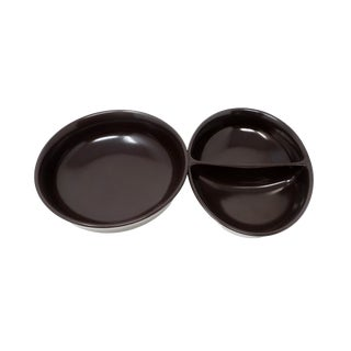 Pair of Mid-Century Modern Franciscan Ceramic Serving Dishes For Sale