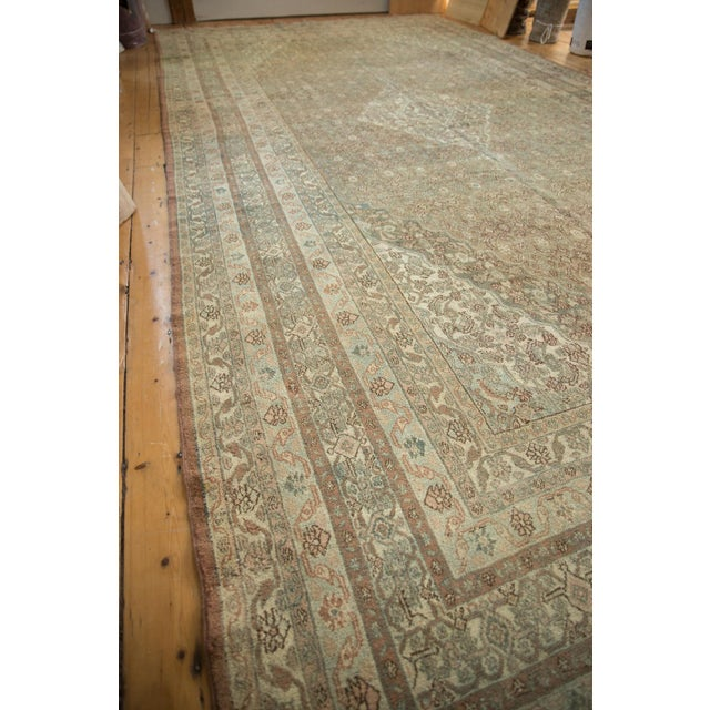 "Vintage Distressed Bibikabad Carpet - 9'5"" X 18'2"" For Sale - Image 10 of 13"