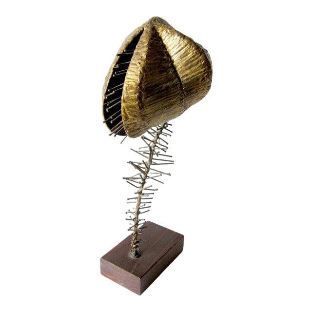 1960s Brockmann Bronze Venus Fly Trap Sculpture For Sale