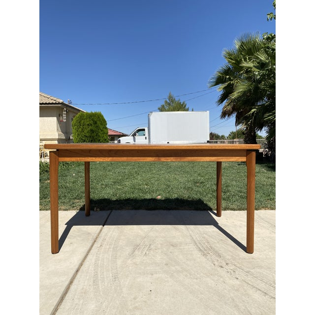 Wood 1950s Mid-Century Modern Teak Dining Table For Sale - Image 7 of 9