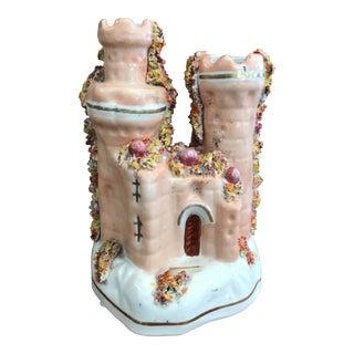 Staffordshire Castle Vase Figurine