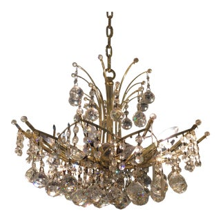 "1970s Vintage Schonbek Swarovski ""The Cantessa"" Crystal Chandelier For Sale"