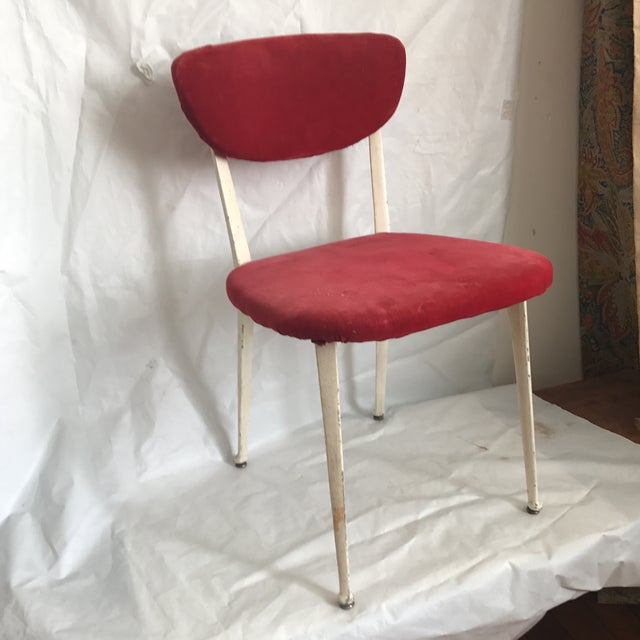 Vintage iron chair by British designer Earnest Race. Era 1940's. Utility scheme regulated production of consumer goods....