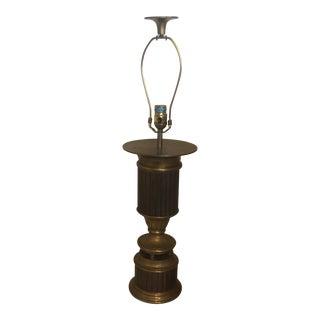 Chapman Heavy Fluted Brass Lamp