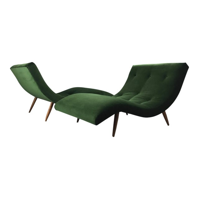 Adrian Pearsall Wave Lounge Chaise - Image 1 of 8