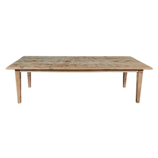 Rustic Large Pine Dining Table For Sale
