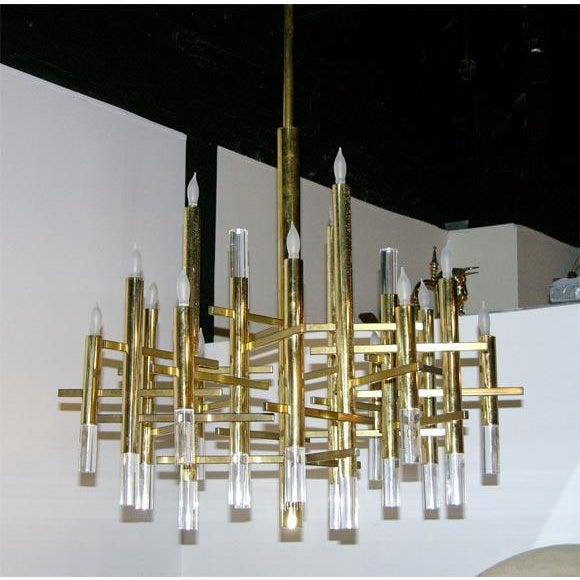 Italian Sciolari Bravura Cartesian Chandelier For Sale - Image 3 of 4