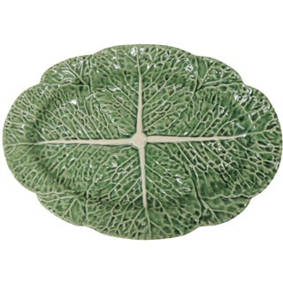 Vintage Majolica Cabbage Serving Platter