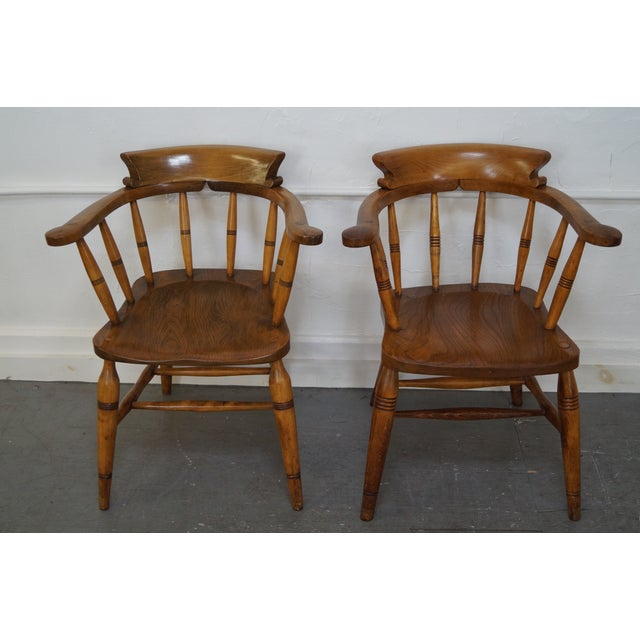 Antique English Set of 4 19th Century Pub Chairs AGE/COUNTRY OF ORIGIN: Approx 150 years, England DETAILS/DESCRIPTION:...