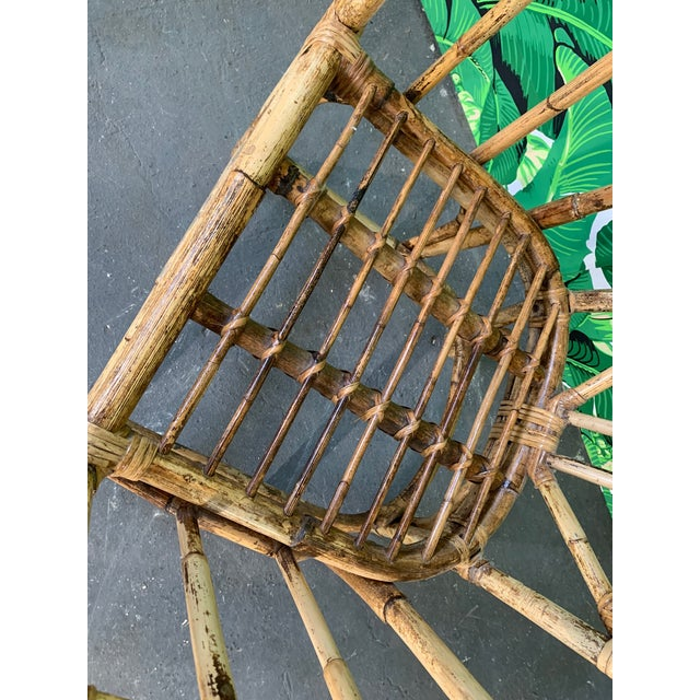 Brown Brighton Style Pavilion Rattan Dining Chairs - Set of 6 For Sale - Image 8 of 9