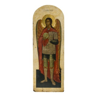 Russian Icon of the Archangel Michael For Sale