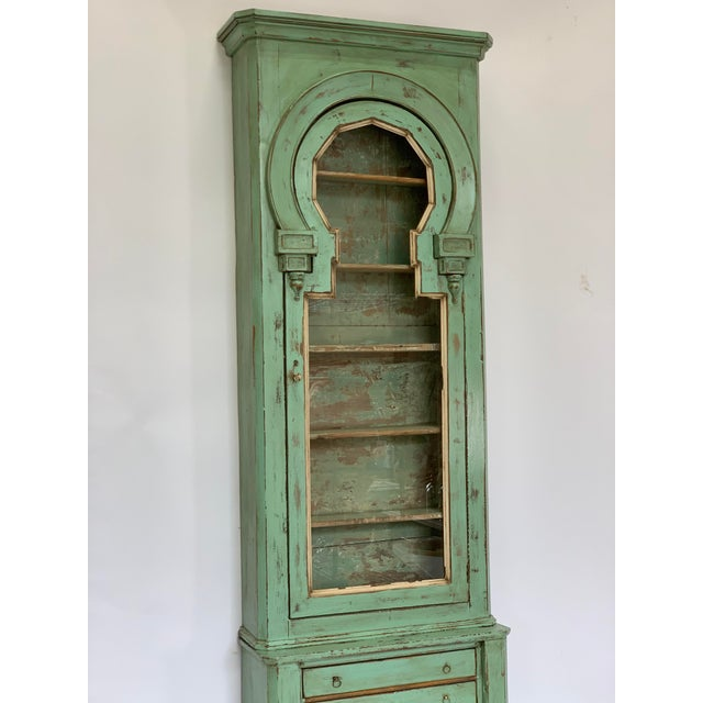 19th Century 19th Century Spanish Green Pharmacy Cabinet For Sale - Image 5 of 12
