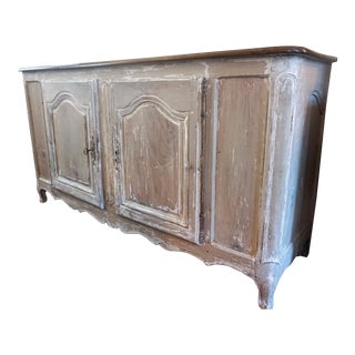18th Century Painted Bleached Walnut Buffet For Sale