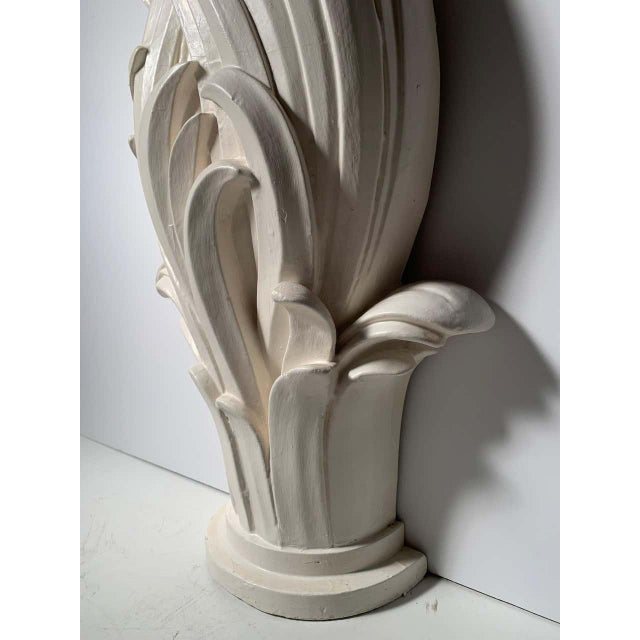 White Vintage Plaster Console in manner of Serge Roche For Sale - Image 8 of 13