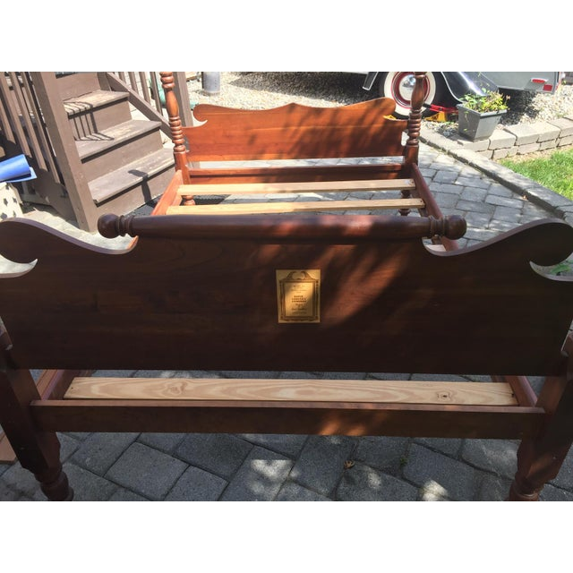 Davis Cabinet Company 20th Century Full-Size Cherry Bedframe For Sale - Image 4 of 13
