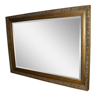 Antiqued Gold Framed Mirror