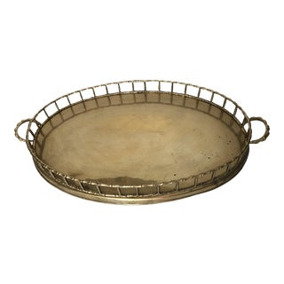 Vintage Brass Faux Bamboo Tray