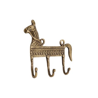 Bohemian Brass Horse Wall Hooks For Sale