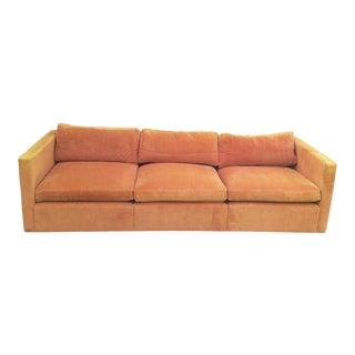 1970s Vintage Knoll Burnt Orange Sofa For Sale