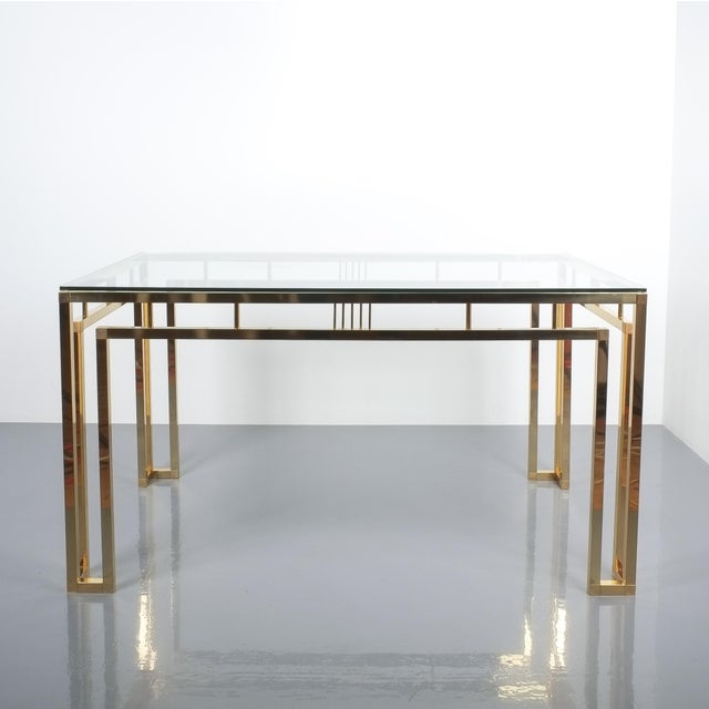 Romeo Rega Breakfast or Dining Table Brass Glass, Italy 1960 For Sale - Image 12 of 12