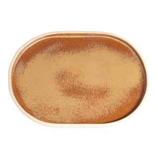 Luna Oval Tray, Ochre For Sale