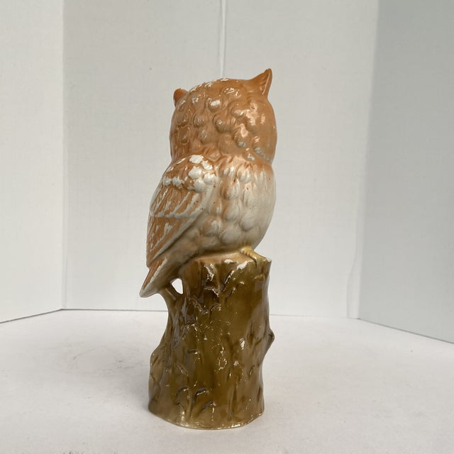 Vintage Mid 20th Century Owl Figurine For Sale In Orlando - Image 6 of 13
