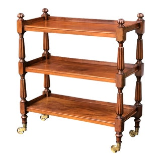 English Trolley or Console Server of Mahogany For Sale
