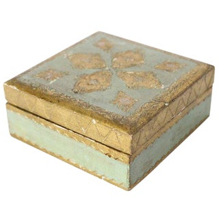 Florentine Aqua Keepsake Box For Sale