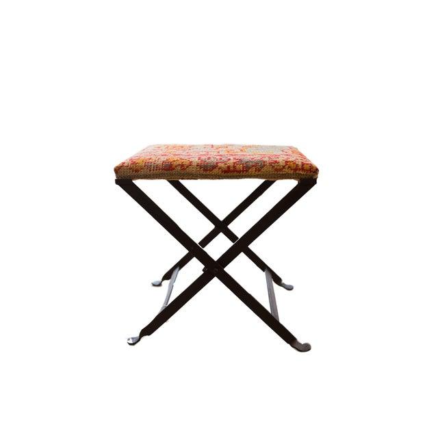 Black Rug Fragment Footstool For Sale - Image 8 of 8
