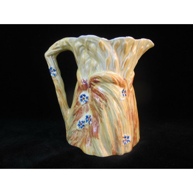 1930s 1930s Burleigh Ware Vintage Figural Bunny Rabbit Harvest Wheat Pitcher For Sale - Image 5 of 8