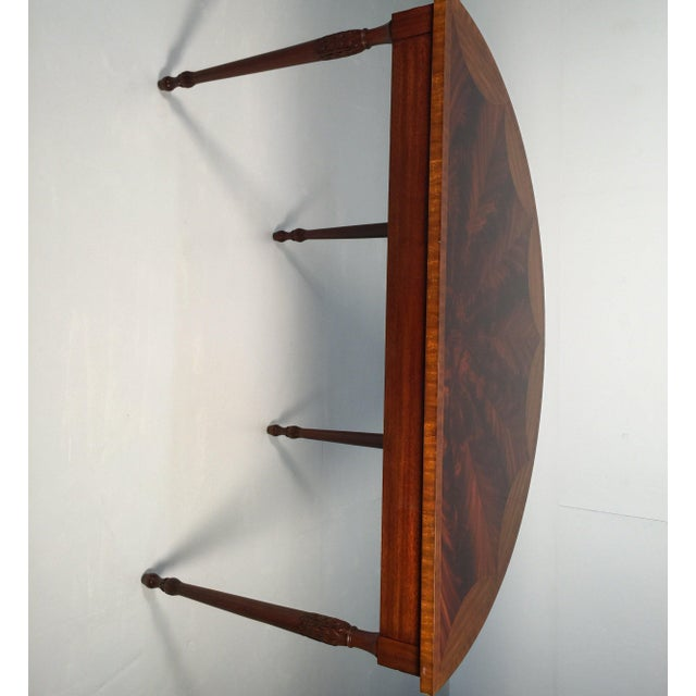 Brown 1990s English Traditional Maitland Smith Demi-Lune Console Tables - a Pair For Sale - Image 8 of 13