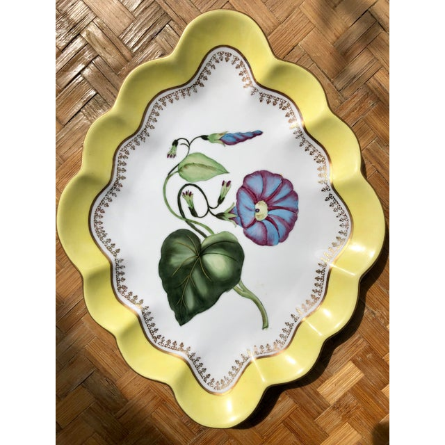 Oh how pretty! I can't help but think how lovely these would be on the wall! These are large in size. Both porcelain...