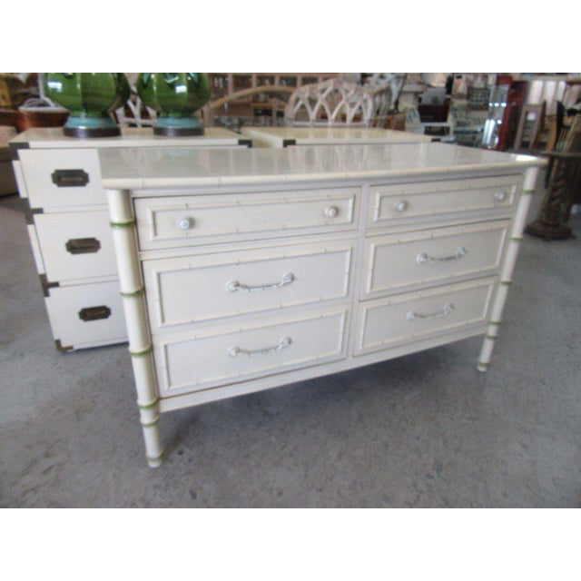 Thomasville Faux Bamboo Double Dresser - Image 6 of 6