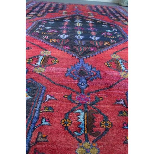 "Vintage Persian Zanjan Rug - 5'4"" x 8'10"" - Image 4 of 9"